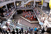 Crowds gather to listen to free concert at the Ala Moana Centre. Honolulu, Hawaii