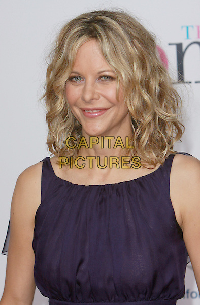 "MEG RYAN.""The Women"" Los Angeles Premiere held at the Mann Village Theatre, Westwood, California, USA..September 4th, 2008.headshot portrait purple sleeveless .CAP/ADM/CH.©Charles Harris/AdMedia/Capital Pictures"