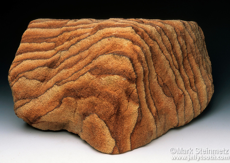 Sandstone. Logan sandstone from the  Mississippian Period 325-345 million years ago. Mansfield, Ohio. Quarried as an excellent building stone.