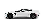 Car driver side profile view of a 2018 Chevrolet Corvette Stingray 1LT 2 Door Coupe