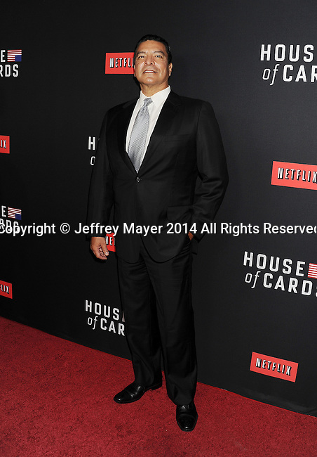 LOS ANGELES, CA- FEBRUARY 13: Actor Gil Birmingham arrives at the 'House Of Cards' Season 2 special screening at Directors Guild Of America on February 13, 2014 in Los Angeles, California.