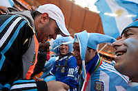 Argentina fans sing and chant at Soccer City in Johannesburg, South Africa on Thursday, June 17, 2010 during Argentina's and South Korea FIFA World Cup first round match.