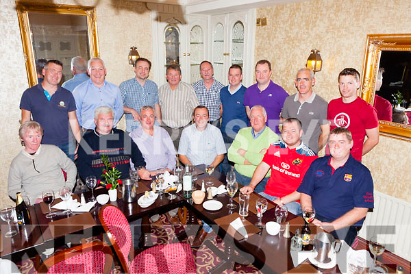 Pictured at his retirement dinner was Denis Joy who is leaving the Abbeyfeale Fire station after 23 years of loyal service, pictured last Tuesday night in Leen's Hotel, Abbeyfeale.