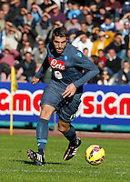 David Lopez    in action during the Italian Serie A soccer match between   SSC Napoli and Empolii    at San Paolo   stadium in Naples , December 07, 2014