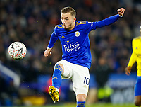 4th March 2020; King Power Stadium, Leicester, Midlands, England; English FA Cup Football, Leicester City versus Birmingham City; James Maddison of Leicester City controls a long ball
