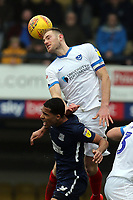 Matthew Clarke of Portsmouth and Timothee Dieng of Southend United during Southend United vs Portsmouth, Sky Bet EFL League 1 Football at Roots Hall on 16th February 2019