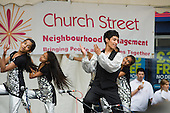 Dance group perform at Church Street Summer Festival 2009, organised by Church Street Neighbourhood Forum.