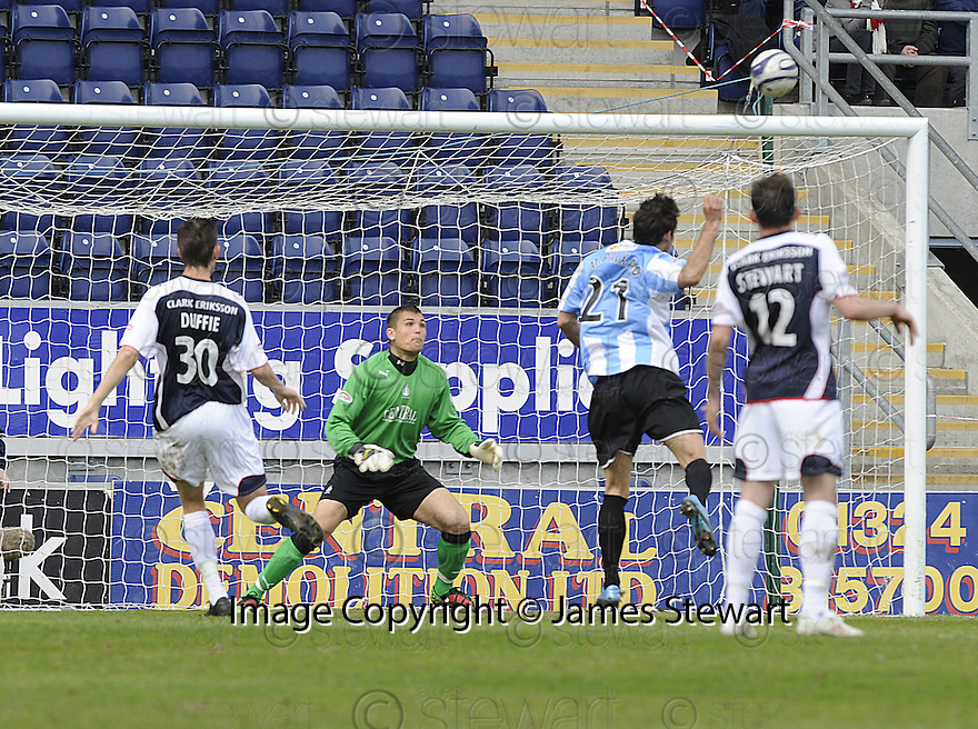 24/04/2010   Copyright  Pic : James Stewart.sct_jsp001_falkirk_v_hamilton  .::  MARCO PAIXAO SCORES HAMILTON'S FIRST ::  .James Stewart Photography 19 Carronlea Drive, Falkirk. FK2 8DN      Vat Reg No. 607 6932 25.Telephone      : +44 (0)1324 570291 .Mobile              : +44 (0)7721 416997.E-mail  :  jim@jspa.co.uk.If you require further information then contact Jim Stewart on any of the numbers above.........