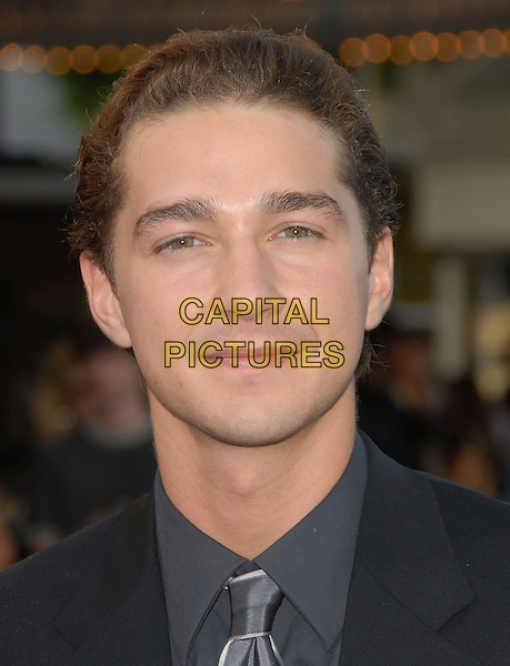 "SHIA LeBEOUF.The Paramount Pictures' L.A. Premiere of ""Transformers"" held at The Mann's Village Theatre in Westwood, California, USA. .June 27th, 2007           .headshot portrait labeouf .CAP/DVS.©Debbie VanStory/Capital Pictures"