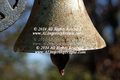 Cast Iron Rusted Dinner Bell , Sunset