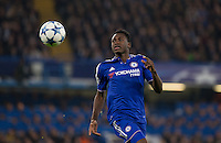 Abdul Baba Rahman of Chelsea keeps eyes on the ball during the UEFA Champions League Group G match between Chelsea and Dynamo Kyiv at Stamford Bridge, London, England on 4 November 2015. Photo by Andy Rowland.