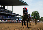 "JUNE 08: Midnight Bisou with Mike Smith up wins The Ogden Phipps Stakes, a Breeders' Cup ""Win and You're In"" event at Belmont Park in Elmont, New York on June 08, 2019. Evers/Eclipse Sportswire/CSM"