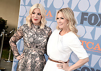 BEVERLY HILLS - AUGUST 7: Tori Spelling and Jennie Garth attends the FOX 2019 Summer TCA All-Star Party on New York Street on the FOX Studios lot on August 7, 2019 in Los Angeles, California. (Photo by Scott Kirkland/FOX/PictureGroup)