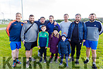 Past players who played for Frank Sheridan of Marian Park, turn out in great numbers to show heir appreciation for Frank Sheridan of Marian Park for his years of dedicated service to soccer.  Front l to r: Killian Donavan, Robyn and Joseph Sheridan.<br /> Back l to r: David Cunningham, Ricard Duggan, John Hegarty, Kieran and Pat Greensmyth, John Hegarty and Paul Donavan.