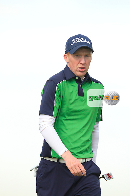 Gavin Moynihan on the 14th fairway during Round 3 of the Irish Amateur Open Championship at Royal Dublin on Saturday 9th May 2015.<br /> Picture:  Thos Caffrey / www.golffile.ie