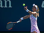 September  1, 2018:  Lesia Tsurenko (UKR) defeated Katerina Siniakova (CZE)  6-4, 6-0, at the US Open being played at Billy Jean King Ntional Tennis Center in Flushing, Queens, New York. Karla Kinne/Tennisclix