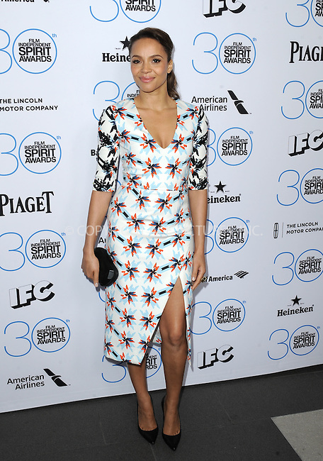 WWW.ACEPIXS.COM<br /> <br /> January 10 2015, LA<br /> <br /> Carmen Ejogo attending the 2015 Film Independent Filmmaker Grant and Spirit Awards nominee brunch at the BOA Steakhouse on January 10, 2015 in West Hollywood, California.<br /> <br /> By Line: Peter West/ACE Pictures<br /> <br /> <br /> ACE Pictures, Inc.<br /> tel: 646 769 0430<br /> Email: info@acepixs.com<br /> www.acepixs.com