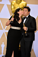 Kristen Anderson-Lopez &amp; Robert Lopez at the 90th Academy Awards Awards at the Dolby Theartre, Hollywood, USA 04 March 2018<br /> Picture: Paul Smith/Featureflash/SilverHub 0208 004 5359 sales@silverhubmedia.com
