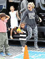 Heidi Klum and boyfriend Martin Kristen take her kids to the Gymnastics - Los Angeles
