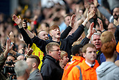 30th September 2017, The Hawthorns, West Bromwich, England; EPL Premier League football, West Bromwich Albion versus Watford; Watford fans taunt the West Bromwich Albion fans when they equaliser in the last seconds of the game