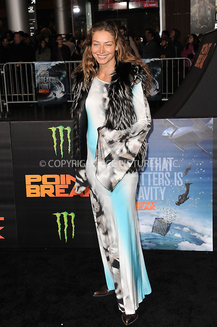 WWW.ACEPIXS.COM<br /> <br /> December 15 2015, LA<br /> <br /> Marina Kazankova arriving at the premiere of 'Point Break' at the TCL Chinese Theatre on December 15, 2015 in Hollywood, California.<br /> <br /> By Line: Peter West/ACE Pictures<br /> <br /> <br /> ACE Pictures, Inc.<br /> tel: 646 769 0430<br /> Email: info@acepixs.com<br /> www.acepixs.com