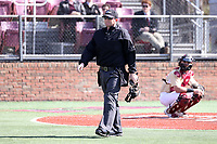 ELON, NC - MARCH 1: Home plate umpire Gary Keller during a game between Indiana State and Elon at Walter C. Latham Park on March 1, 2020 in Elon, North Carolina.