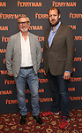"""Stuart Graham and Justin Edwards attend the Meet the Broadway cast of """"The Ferryman"""" during the press photo call on October 4, 2018 at Sardi's in New York City."""
