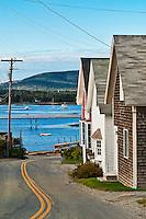 Seaside village, Bass Harbor, Maine, ME, USA