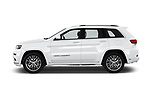 Car driver side profile view of a 2018 Jeep Grand-Cherokee Summit 5 Door SUV