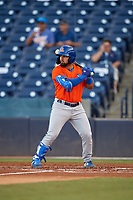 St. Lucie Mets Carlos Cortes (23) at bat during a Florida State League game against the Tampa Tarpons on April 10, 2019 at George M. Steinbrenner Field in Tampa, Florida.  St. Lucie defeated Tampa 4-3.  (Mike Janes/Four Seam Images)