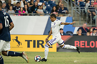 FOXBOROUGH, MA - JULY 27:  Robinho #95 takes a shot at goal at Gillette Stadium on July 27, 2019 in Foxborough, Massachusetts.
