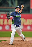 9 July 2015: Vermont Lake Monsters pitcher Kevin Duchene on the mound against the Mahoning Valley Scrappers at Centennial Field in Burlington, Vermont. The Lake Monsters rallied to tie the game 4-4 in the bottom of the 9th, but fell to the Scrappers 8-4 in 12 innings of NY Penn League play. Mandatory Credit: Ed Wolfstein Photo *** RAW Image File Available ****