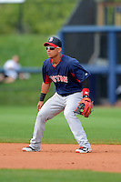 Boston Red Sox shortstop Jose Iglesias #10 during a Grapefruit League Spring Training game against the Tampa Bay Rays at Charlotte County Sports Park on February 25, 2013 in Port Charlotte, Florida.  Tampa Bay defeated Boston 6-3.  (Mike Janes/Four Seam Images)