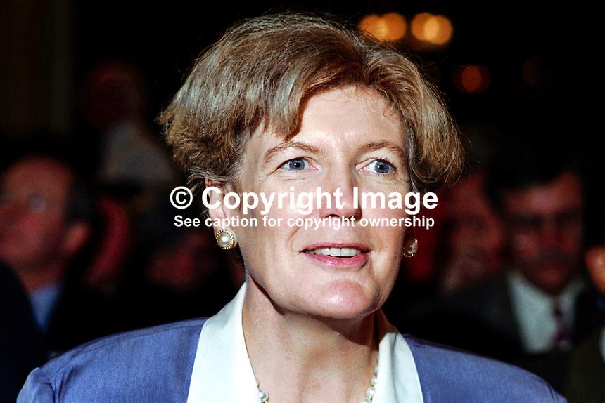 Ann Taylor, Labour Party,  MP, Britain. Ref: 199409006b.<br /> <br /> Copyright Image from Victor Patterson, 54 Dorchester Park, <br /> Belfast, UK, BT9 6RJ<br /> <br /> t1: +44 28 9066 1296 (from Rep of Ireland 048 9066 1296)<br /> t2: +44 28 9002 2446 (from Rep of Ireland 048 9002 2446)<br /> m: +44 7802 353836<br /> <br /> e: victorpatterson@me.com<br /> www.victorpatterson.com<br /> <br /> Please see my Terms and Conditions of Use at www.victorpatterson.com. It is IMPORTANT that you familiarise yourself with them.<br /> <br /> Images used on the Internet must be visibly watermarked i.e. &copy; Victor Patterson<br /> within the body of the image and copyright metadata must not be deleted. Images <br /> used on the Internet have a size restriction of 4kbs and will be chargeable at current<br />  NUJ rates unless agreed otherwise.<br /> <br /> This image is only available for the use of the download recipient i.e. television station, newspaper, magazine, book publisher, etc, and must not be passed on to any third <br /> party. It is also downloaded on condition that each and every usage is notified within 7 days to victorpatterson@me.com<br /> <br /> The right of Victor Patterson to be identified as the author is asserted in accordance with The Copyright Designs And Patents Act (1988). All moral rights are asserted