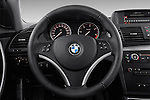 Steering wheel view of a 2007 - 2011 BMW 1-Series 123d 3 Door Hatchback 2WD.