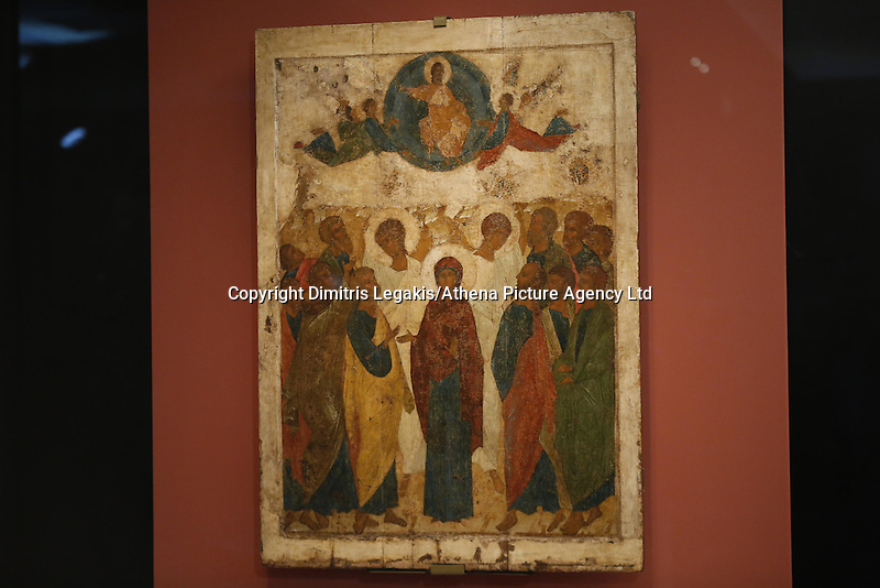 Pictured: 'Ascension of the Christ' icon Friday 27 May 2016<br />