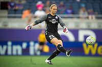 Orlando, FL - Sunday July 10, 2016: Kaitlyn Savage during a regular season National Women's Soccer League (NWSL) match between the Orlando Pride and the Boston Breakers at Camping World Stadium.