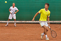 August 17, 2014, Netherlands, Raalte, TV Ramele, Tennis, National Championships, NRTK, Mens Doubles Final : Kevin Benning/Yannick Zenden (NED)<br /> Photo: Tennisimages/Henk Koster
