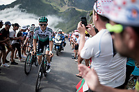Patrick Konrad (AUT/Bora-Hansgrohe) up the Tourmalet (HC/2115m/19km @7.4%)<br /> <br /> Stage 14: Tarbes to Tourmalet (117km)<br /> 106th Tour de France 2019 (2.UWT)<br /> <br /> ©kramon