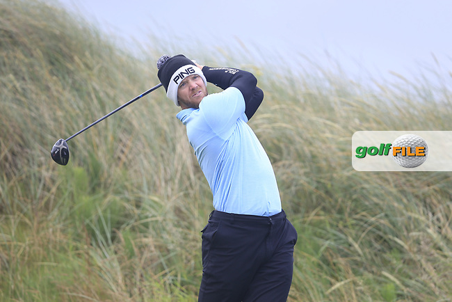 Peter O'Keeffe (Douglas ) during the semi final of the  North of Ireland Amateur Championship, Portstewart Golf Club, Portstewart, Antrim,  Ireland. 12/07/2019<br /> Picture: Golffile | Fran Caffrey<br /> <br /> <br /> All photo usage must carry mandatory copyright credit (© Golffile | Fran Caffrey)