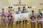 31.05.2015, Moskau, Vodny Stadion<br /> Moskau Grand Slam, Siegerehrung<br /> <br /> 1. Platz / Gold / Goldmedaille: Larissa Franca / Talita Antunes (BRA)<br /> <br />   Foto &copy; nordphoto / Kurth