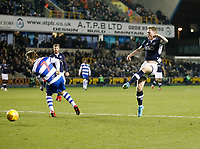 Aiden O'Brien of Millwall shoots on goal during the Sky Bet Championship match between Millwall and Queens Park Rangers at The Den, London, England on 29 December 2017. Photo by Carlton Myrie / PRiME Media Images.