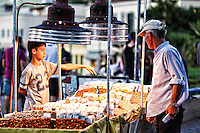 Selling nuts in the streets of Athens, Greece