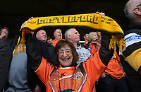 Picture by Allan McKenzie/SWpix.com - 13/05/2017 - Rugby League - Ladbrokes Challenge Cup - Castleford Tigers v St Helens - The Mend A Hose Jungle, Castleford, England - Castleford fans celebrate another try.