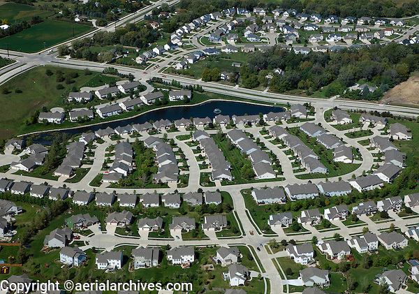 aerial photograph residential development west Des Moines, Iowa