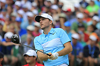 Russell Henley (USA) tees off the 1st tee to start his match during Sunday's Final Round of the 117th U.S. Open Championship 2017 held at Erin Hills, Erin, Wisconsin, USA. 18th June 2017.<br /> Picture: Eoin Clarke | Golffile<br /> <br /> <br /> All photos usage must carry mandatory copyright credit (&copy; Golffile | Eoin Clarke)