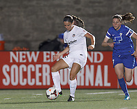 Allston, Massachusetts - June 11, 2014:  In a National Women's Soccer League (NWSL) match, Boston Breakers (blue) defeated Washington Spirit (white), 2-0, at Harvard Stadium.