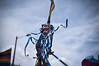 BOGOTÁ -COLOMBIA. 30-06-2019: Cientos de personas participaron en la Marcha LGBTI 2019 realizada por las calles del centro de Bogotá, Colombia, hoy 30 de junio de 2019. / Hundred of people gathered to participate in the Gay Pride Parade 2019 on June 30, 2019 that be held by the main streets of the downtown of Bogota, Colombia. Photo: VizzorImage/ Nicolas Aleman / Staff