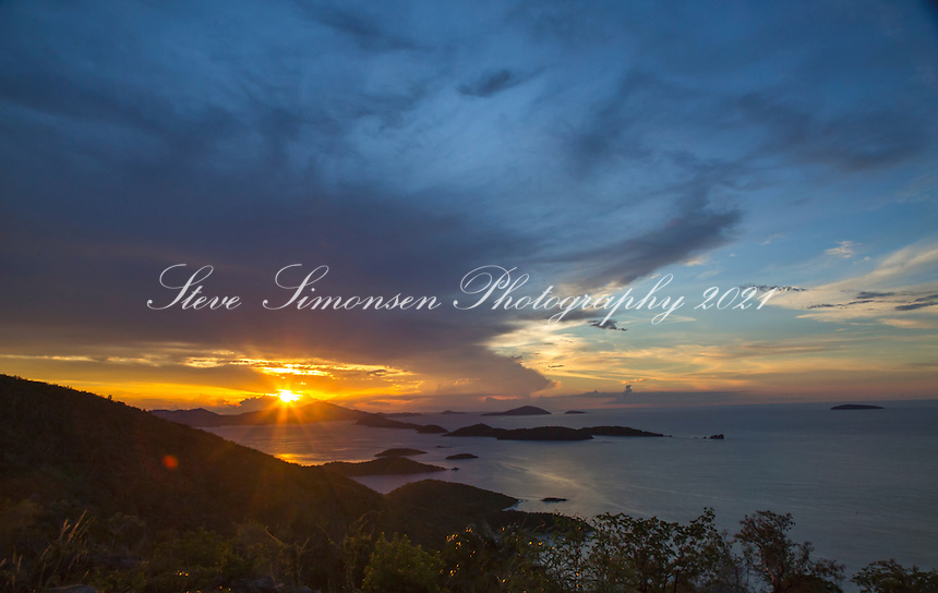 Sunset from St. John<br />