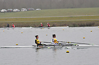 087 ChristchurchRC W.J18A.2x..Marlow Regatta Committee Thames Valley Trial Head. 1900m at Dorney Lake/Eton College Rowing Centre, Dorney, Buckinghamshire. Sunday 29 January 2012. Run over three divisions.